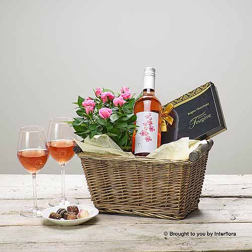 Rose Wine Basket
