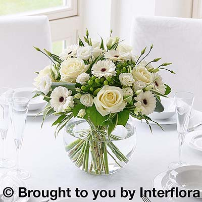 White Floral Globe