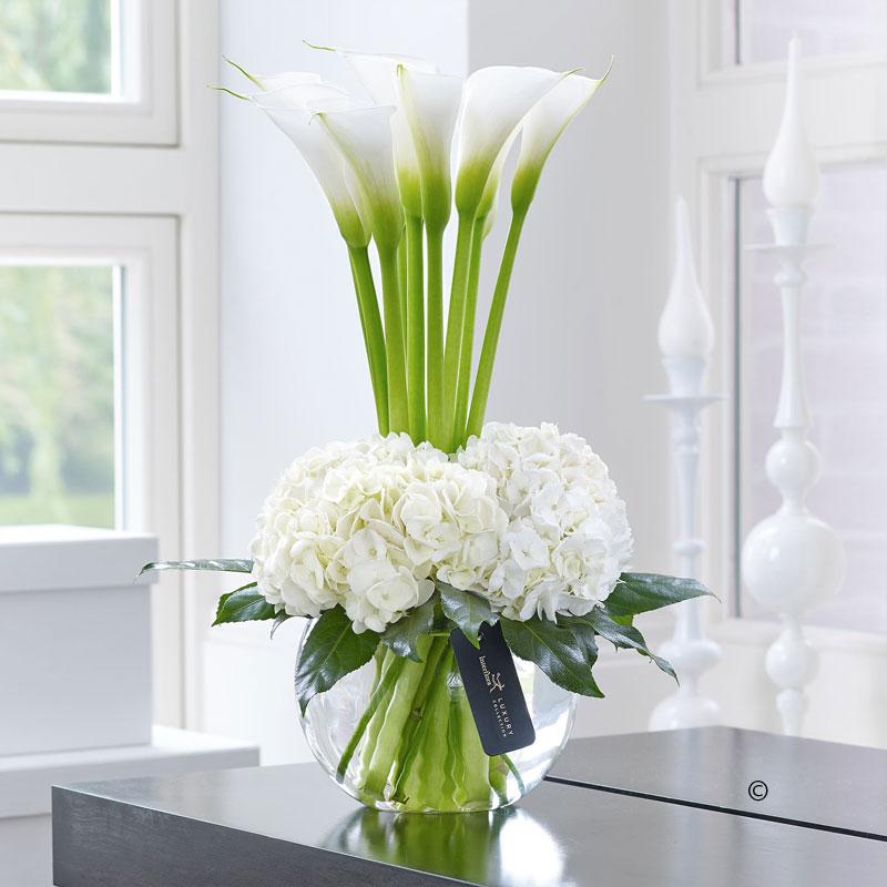 Calla & Hydrangea Vase