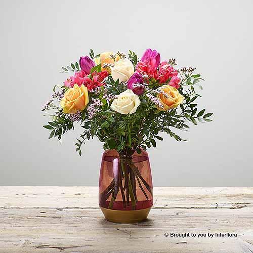 Peach Sundae Vase