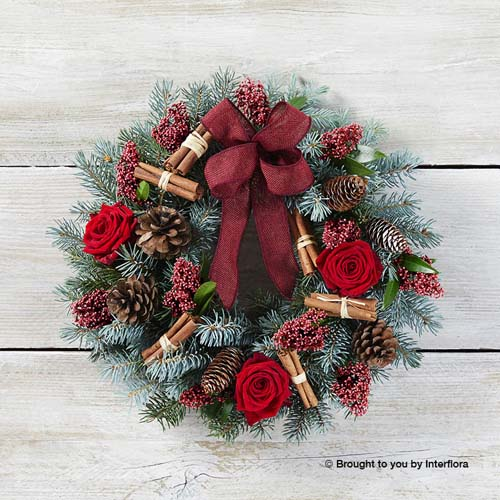 Festive Rose Wreath